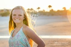 Backlighting during the Golden Hour can make for beautiful portraits. Senior Photos, Senior Pictures,Girls Senior Photos, senior portraits, Photos, Beach, Beach Senior Pictures, Beach senior picture poses, portraits, #menzelimages