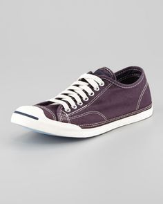converse jack purcell gray x694  Converse Jack Purcell Low-Profile Sneaker, Purple [Men's]