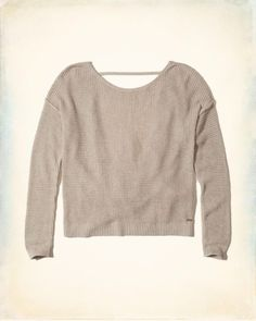 5cc9a045b59 Hollister Twist Open Back Sweater for the special girl in your life. ( affiliate)