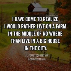 Indeed! When I retire and move to my little apartment, I'm going to miss my big country house and rural area!