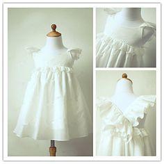 Flower Girl Dress Tea-length Taffeta A-line Short Sleeve Dress – RUB p. 3 047,39