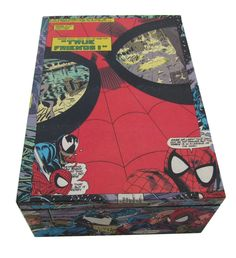 (http://www.papervsglue.com/spiderman-comic-cigar-box/)