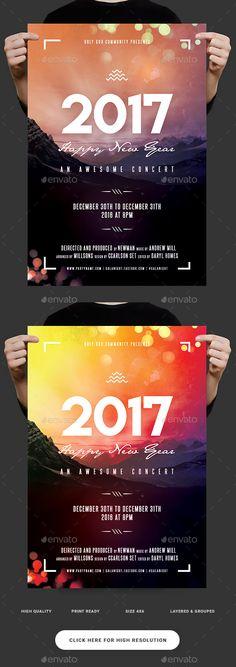 Mass Choir Concert Flyer Template Concert flyer, Flyer template - new year poster template