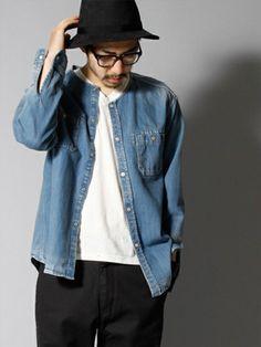 秋のメンズシャツコーデは新手の羽織り!ノーカラーがカッコイイ! Men Fashion, Denim, Jackets, Moda Masculina, Down Jackets, Man Fashion, Mens Fashion, Fashion Men, Men's Fashion Styles