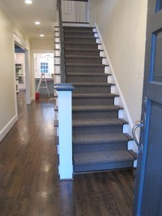 Great Stair Makeover: Carpet To Hardwood. | Stair Makeover | Pinterest | Best  Stair Makeover, Staircases And Basements Ideas