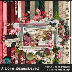 A Love Remembered - The Kit  - Available at #theStudio #CarinGrobeDesign #theurbanfairy