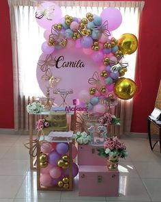Candy Theme Birthday Party, Butterfly Birthday Party, Girl Birthday Decorations, Butterfly Baby Shower, Garden Birthday, Baby Girl Birthday, Birthday Balloons, Balloon Decorations, Butterfly Decorations