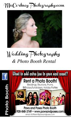 We do wedding photography AND a Photobooth, one stop shopping :)