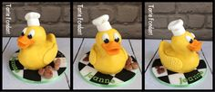 Yellow duck cake, badeend taart, caketopper