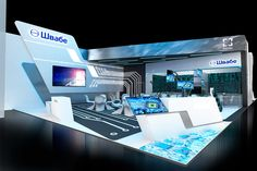 Concept of stand 2017 on Behance Exhibition Booth Design, Exhibition Stands, Exhibit Design, Concert Stage Design, Interior Architecture, Interior Design, Technology Design, Cool Designs, Exhibitions