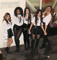 Fifth Harmony leaving the X Factor UK studios.
