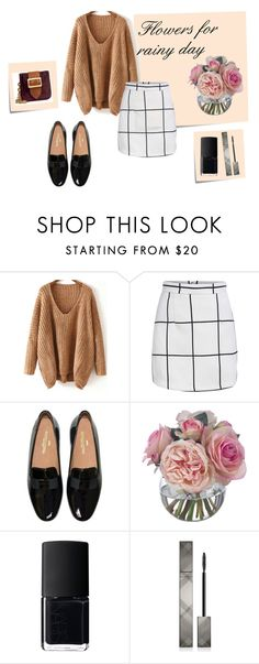 #flowers#rainy#wednesday by slounis on Polyvore featuring moda, Burberry, NARS Cosmetics, Diane James and Post-It