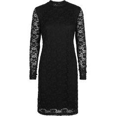 Glad lace dress #feminine #lace #elegant #black #dress #evening