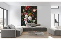 Mural still life with flowers in a glass vase - Jan Davidsz de Heem - Wall Decals - Murals - Posters Retail Interior Design, Residential Interior Design, Commercial Interior Design, Interior Design Companies, Interior Exterior, Commercial Interiors, Modern Interior Design, Industrial House, Photo Wallpaper