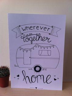 caravan dessin Handlettering quote gemaakt voor in - caravan Doodle Lettering, Hand Drawn Lettering, Brush Lettering, Camper Drawing, Word Doodles, Dibujos Cute, Simple Doodles, Bath And Beyond Coupon, Stick Figures