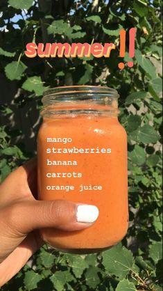 Fruit Smoothie Recipes, Easy Smoothies, Smoothie Drinks, Smoothie Bowl, Drink Recipes, Healthy Drinks, Healthy Eating, Healthy Recipes, Healthy Foods