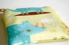 Mini-Sized Fabric Zippy Coin/Change Purse - Kids - Ladies - Gift - Dinosaurs by ToBagsFromStitches on Etsy