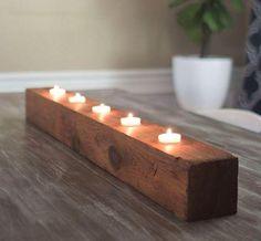 Rustic DIY Tea Light Candle Holder   DIYIdeaCenter.com