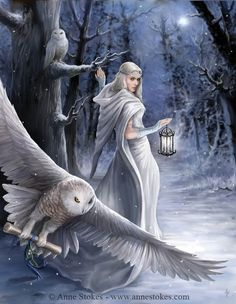 Cirosa and her white owl in The Prophecies of Zanufey #Fantasy #FantasyNovel