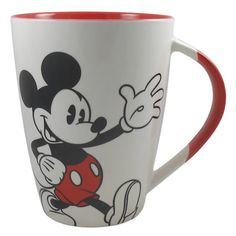 "From Mickey & Minnie matching china mug set, ""His 'n' Hers"""