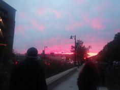 Tallahassee sunset. #doakcampbellstadium #gonoles