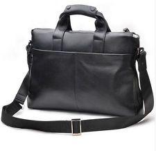 Men Genuine Leather Business Bag Laptop Computer Handbag Messenger Shoulder Bag