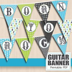 Hey, I found this really awesome Etsy listing at https://www.etsy.com/listing/184004040/born-to-rock-party-banner-in-turquoise