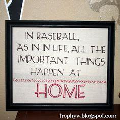 Tales of a Trophy Wife: Baseball Art