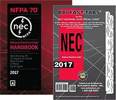 Amazon.com: NFPA 70: National Electrical Code (NEC) Handbook and Fast Tabs, 2017 Edition, Set: Industrial & Scientific | @giftryapp