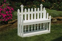Amish Made Picket Fence Garden Bench