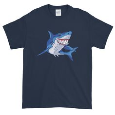 This t-shirt makes for a great staple! It has a classic fit (not form-fitting) with a thick cotton fabric. Shoulder Taping, Mens Tees, Fabric Weights, Shark, Cotton Fabric, T Shirt, How To Wear, Shopping, Tops