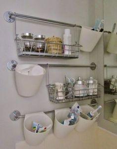 Minimalist Bathroom Storage Organization Ideas 09 Do you need spacesaver bathroom storage shelves to organize your bathroom accessories, but not sure how to do it on … Bathroom Wall Storage, Bathroom Hacks, Diy Bathroom Decor, Simple Bathroom, Bathroom Towels, Bathroom Organization, Organization Ideas, Bathroom Ideas, Rv Bathroom