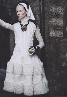 "Freja Beha Erichsen in Alexander McQueen - Master Class"" by Mario Testino for UK Vogue September 2011"