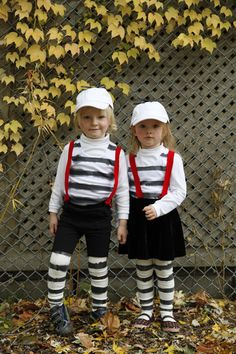 Tweedle Dee & Tweedle Dum! Okay, here's my other favourite brother & sister Halloween costume ideas as seen in Canadian Family magazine.