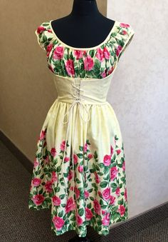 """Adorable dress from """"Gertie's Blog For Better Sewing"""". I NEED this new fabric and pattern!"""