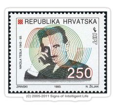 Croatia Tesla stamp