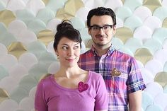 Feeling inspired by this #DIY couple and their beautiful artsy #backdrop for their #photobooth. Photo via #LovelyIndeed