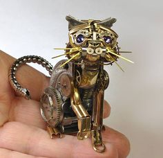 Can't bear to throw away that old, broken watch sitting in your sock drawer? Try turning it into a piece of steampunk-inspired art instead!