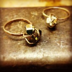Pyrite Nugget Ring by sweetBella on Etsy
