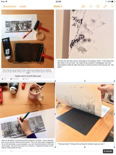 How to make a monoprint! This method uses a photograph which beginners can trace over - an easy way to learn the technique & produce an effective print.