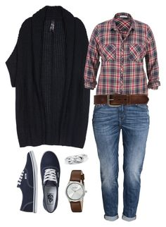 """""""Plus - Casual Plaid"""" by the3bollings on Polyvore featuring Melissa McCarthy Seven7, maurices, H&M, Bed