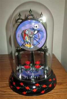Nightmare Before Christmas porcelain pendulum anniversary mantle clock.. I want this