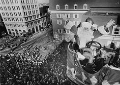 It all begins with the arrival of Santa at Watt & Shands in downtown Lancaster,PA