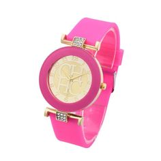 Womens Hot Silicone Strap Trendy Watch