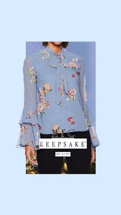 Keepsake The Label Women's Evolve Long Top with Tiered Ruffle Sleeves Long Tops, Long Sleeve Tops, Bell Sleeve Top, Zipper Ties, Keepsake The Label, S Star, Ruffle Sleeve, Ruffles, Floral Tops