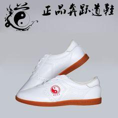 a5699ffb3 Adult Male Female Taichi Shoes Wushu Kungfu Shoes Winchun Taichi Taiji  Uniform Unisex Classical White PU Leather Shoes Sneaker