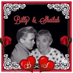 Billy Fury and Sheilah - made by Denise.