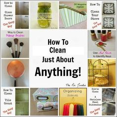 How to clean just about anything!