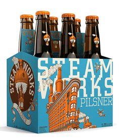 Steamworks Brewing New #craftbeer Labels - via @ohbeautifulbeer @steamworksbeer #Vancouver