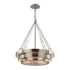 Elk Chronology 8 Light Chandelier In Brushed Stainless With Polished Nickel Accents 32226/8